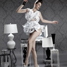 Paper dress, avante garde, avant garde, paper dresses, chicago designer, wearable art