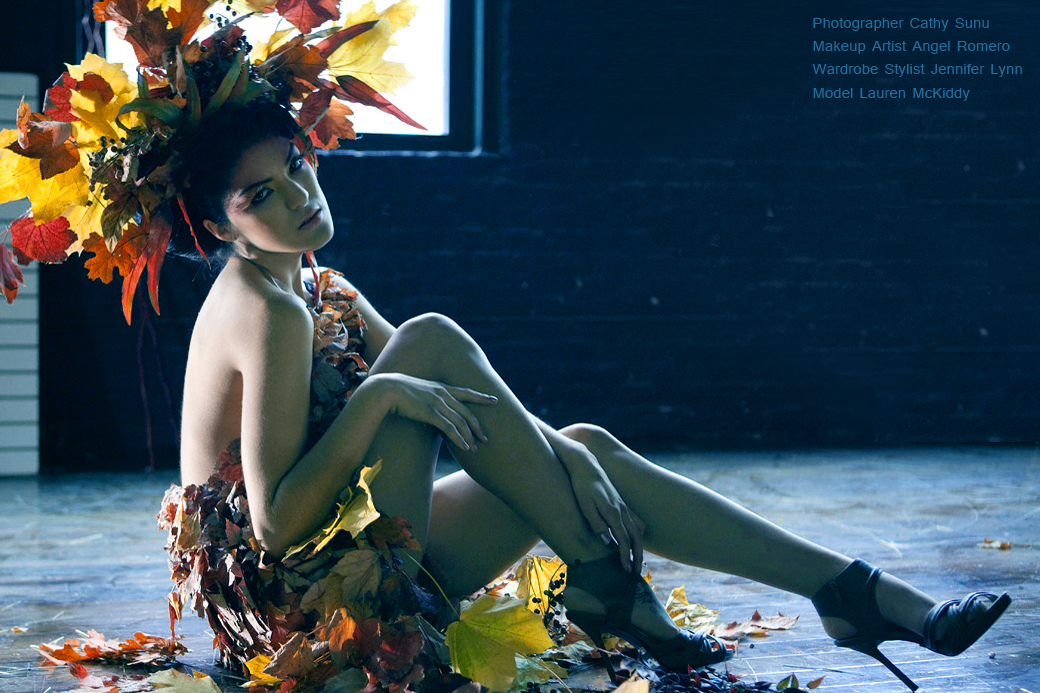 leaf dresses, Leaf dress, autumn costume, leaves, dress, outfit fall, october, changing leaves, editorial, chicago