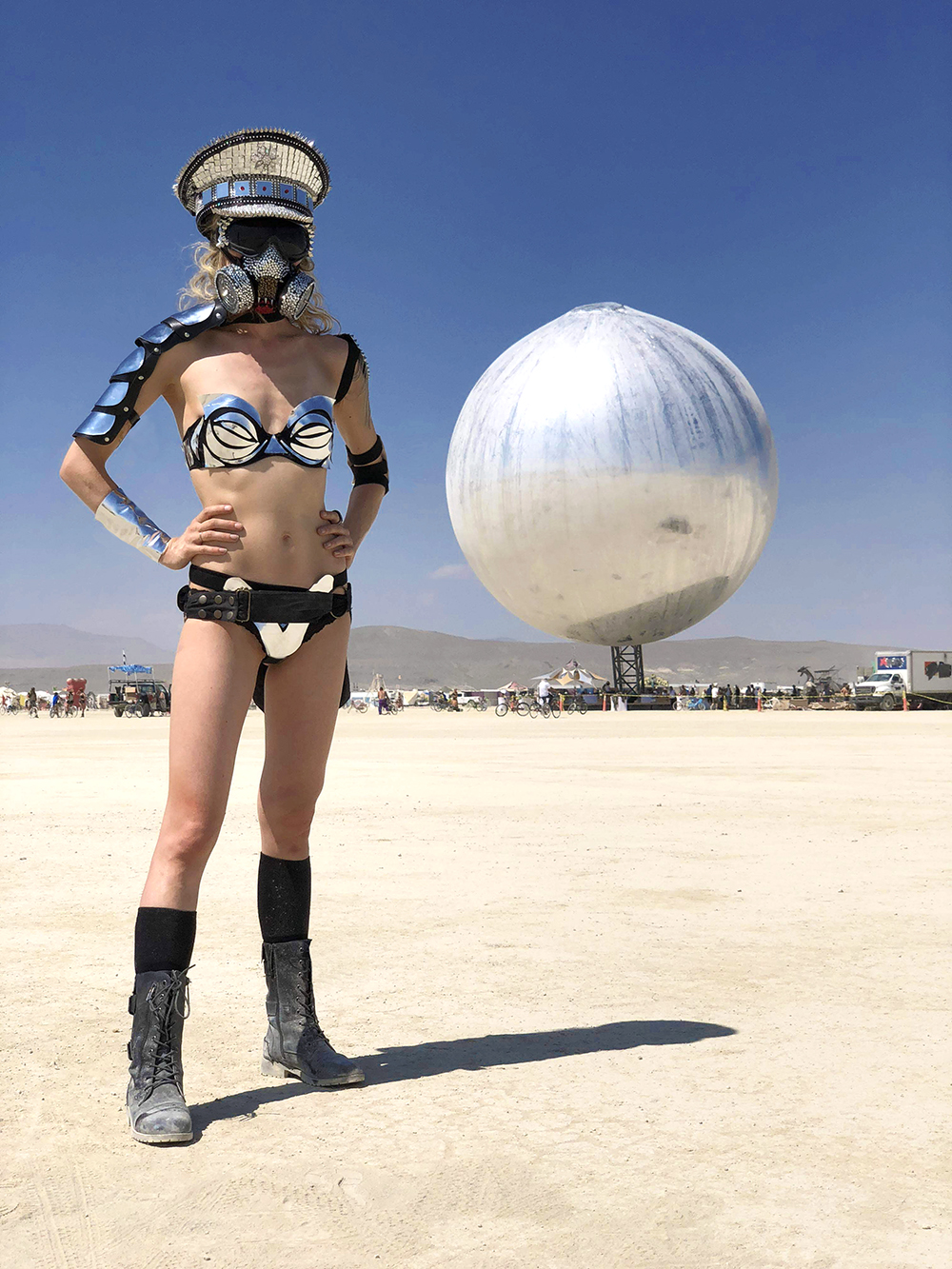 Burning Man, metal bikini