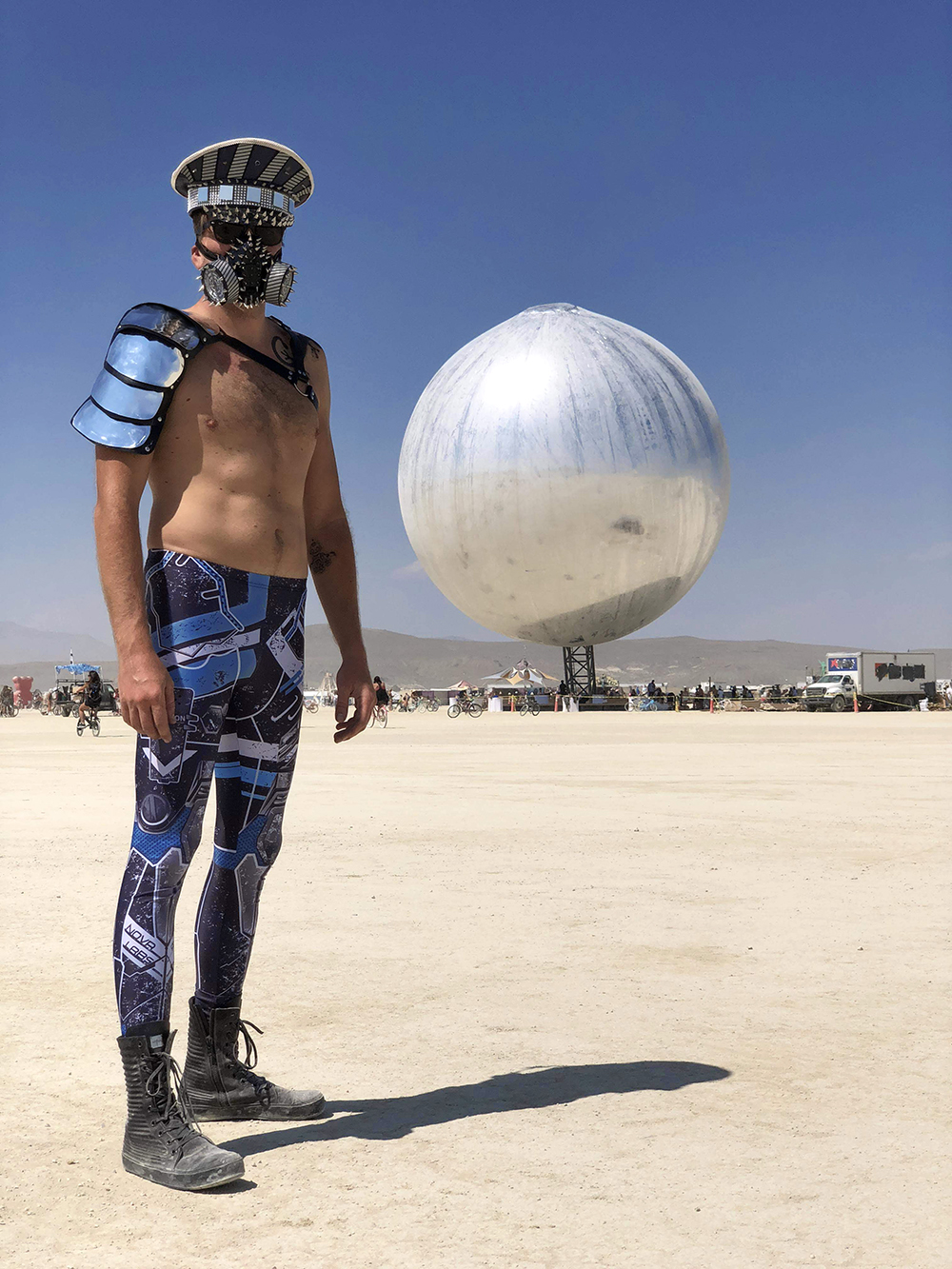 Burning Man metal outfit