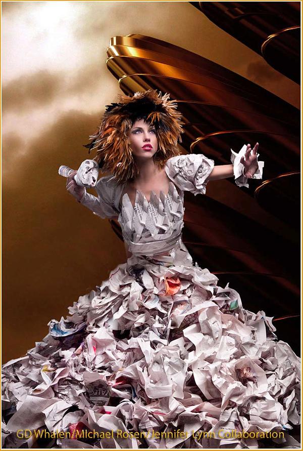 courtney brazelton, paperdoll princess, paper doll princess, Fantasy Paper Dress, paper dress, monica true, avant garde, paper dresses, unique, chicago, wardrobe, editorial, magazine, set, designer, stylist, hand made, white paper, computer paper, futuristic, graphisma, chicago workshop, workshop, model, models, photoshoot