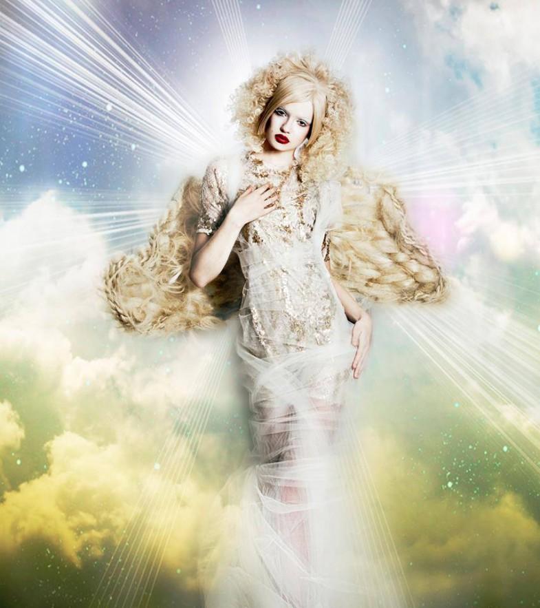 Hair Angels, hair angel, wardrobe, editorial, hair stylist, jean sweet, sherri jesse, naha, 2014, 2013, angelic, hot by hairs how, dark beauty, spread, san francisco, jennifer Lynn, designer, stylist